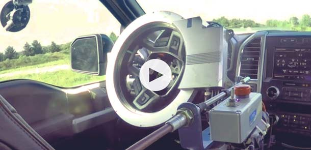ASI Steering Robot on a Ford F-150