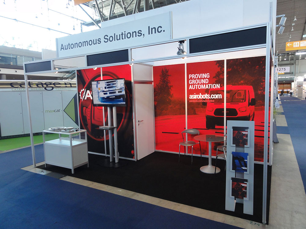 ASI's booth at the Automotive Testing Expo in Germany