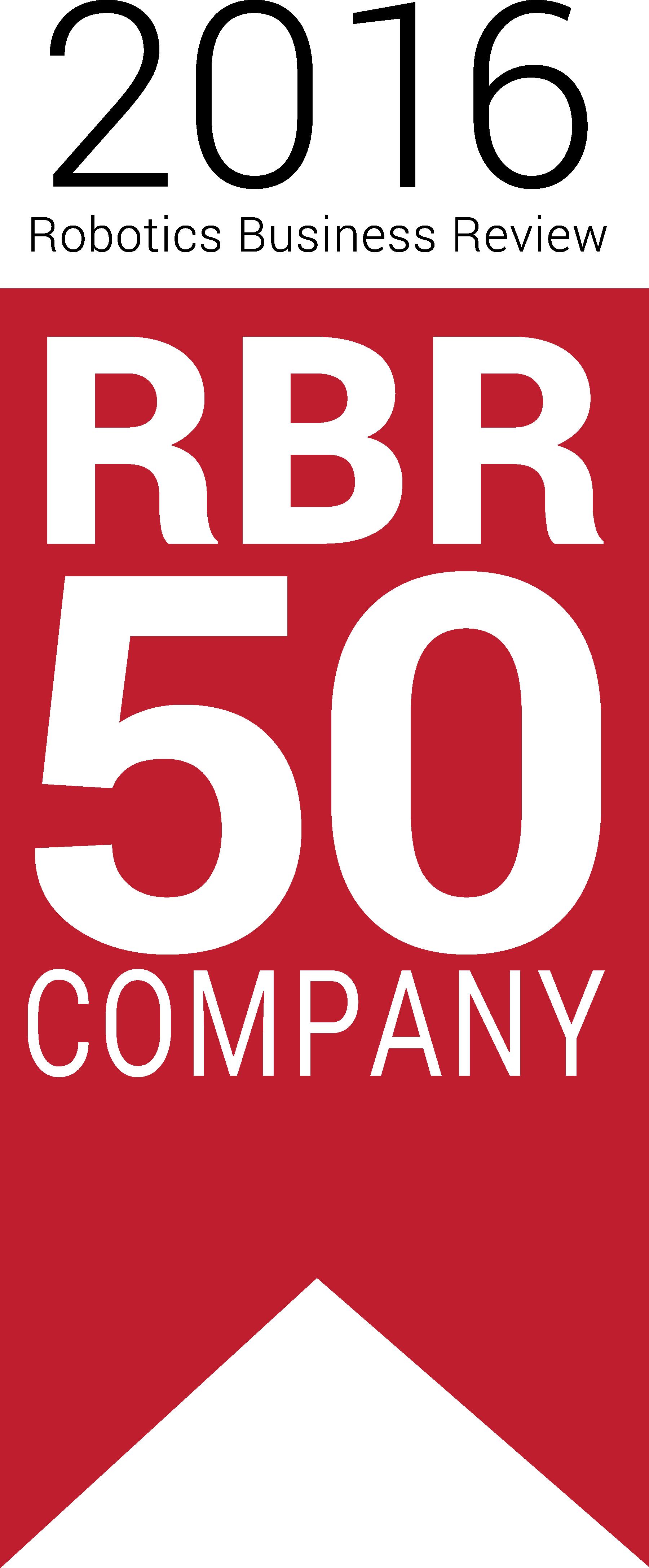 The 2016 Robotics Business Review logo